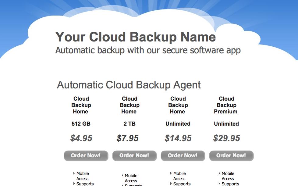 Reseller Program Template Cloud Backup Reseller Template