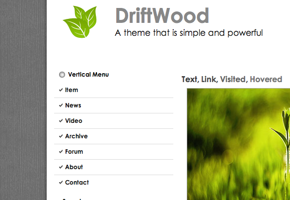 DriftWood WordPress Theme