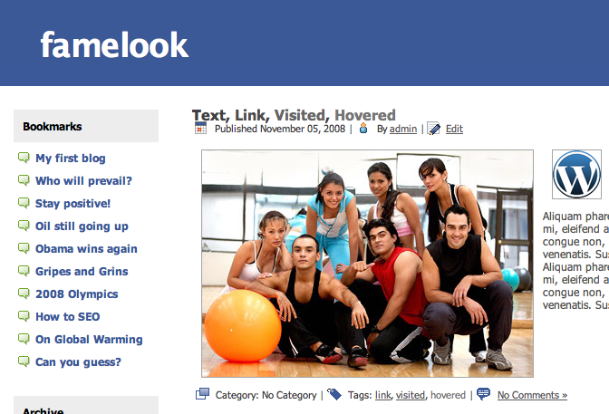 Weebly Facebook Theme