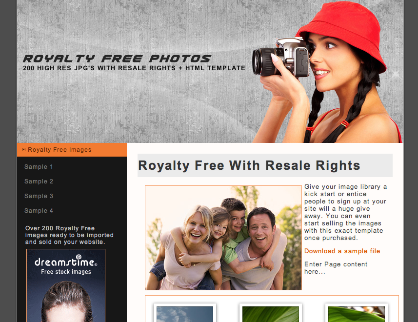 Royalty Free Image Template & Image Pack