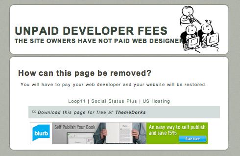 Unpaid Web Designer Free Template