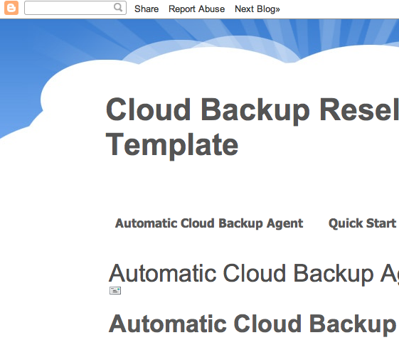 Cloud Backup Reseller Blogger Template