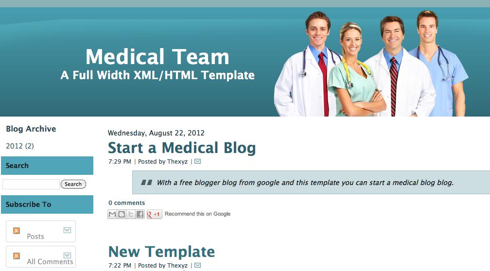 Medical Blogger Templates Medical Team Blogger Template | ThemeDorks