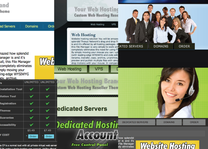 Web Hosting Reseller CSS Template Bundle
