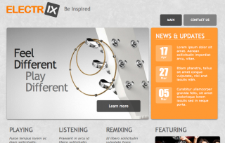 Electrix Music Website Template