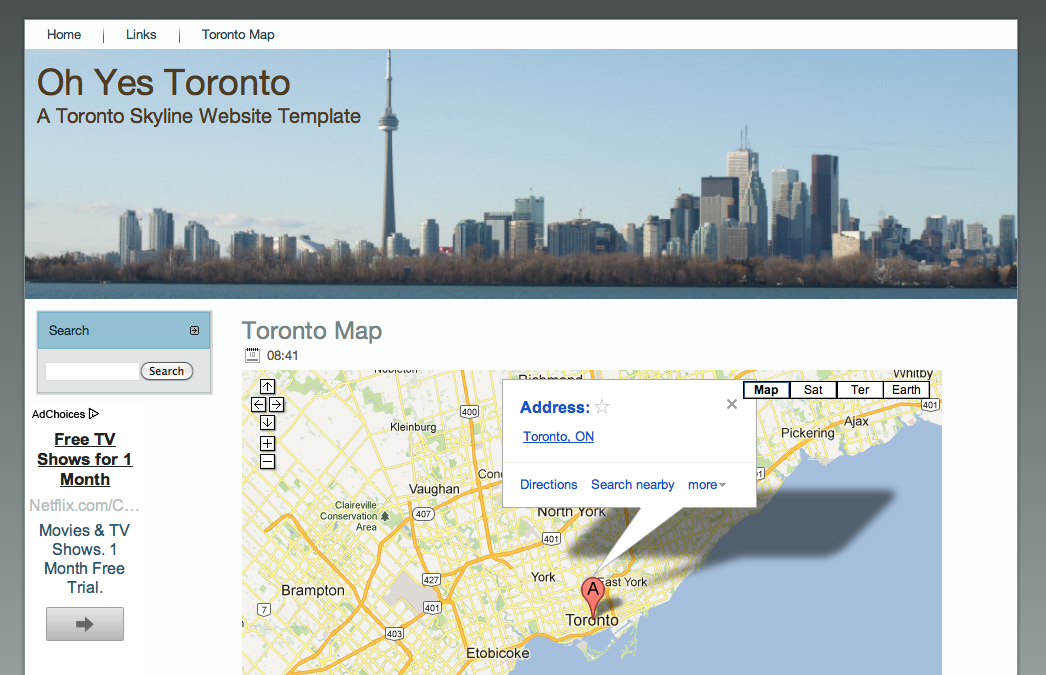 The Toronto Blogger Template