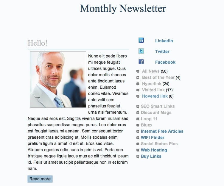 Sleek & Simple HTML Email Newsletter Template