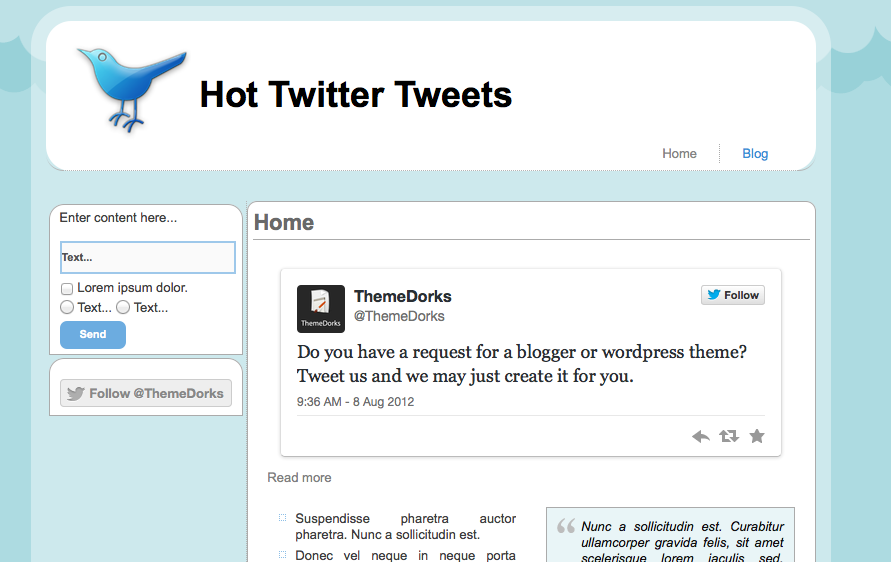 Twitter clone html template themedorks twitter html website template pronofoot35fo Choice Image