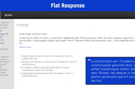 Flat Response HTML Template