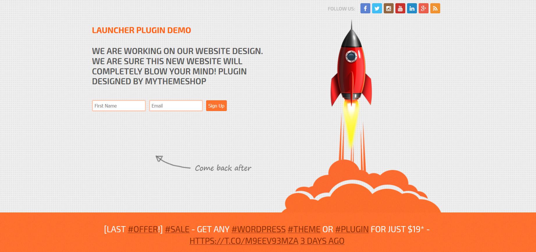 WordPress Website Launcher Plugin