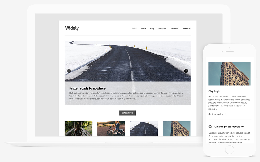 Widely Free Portfolio WordPress Theme