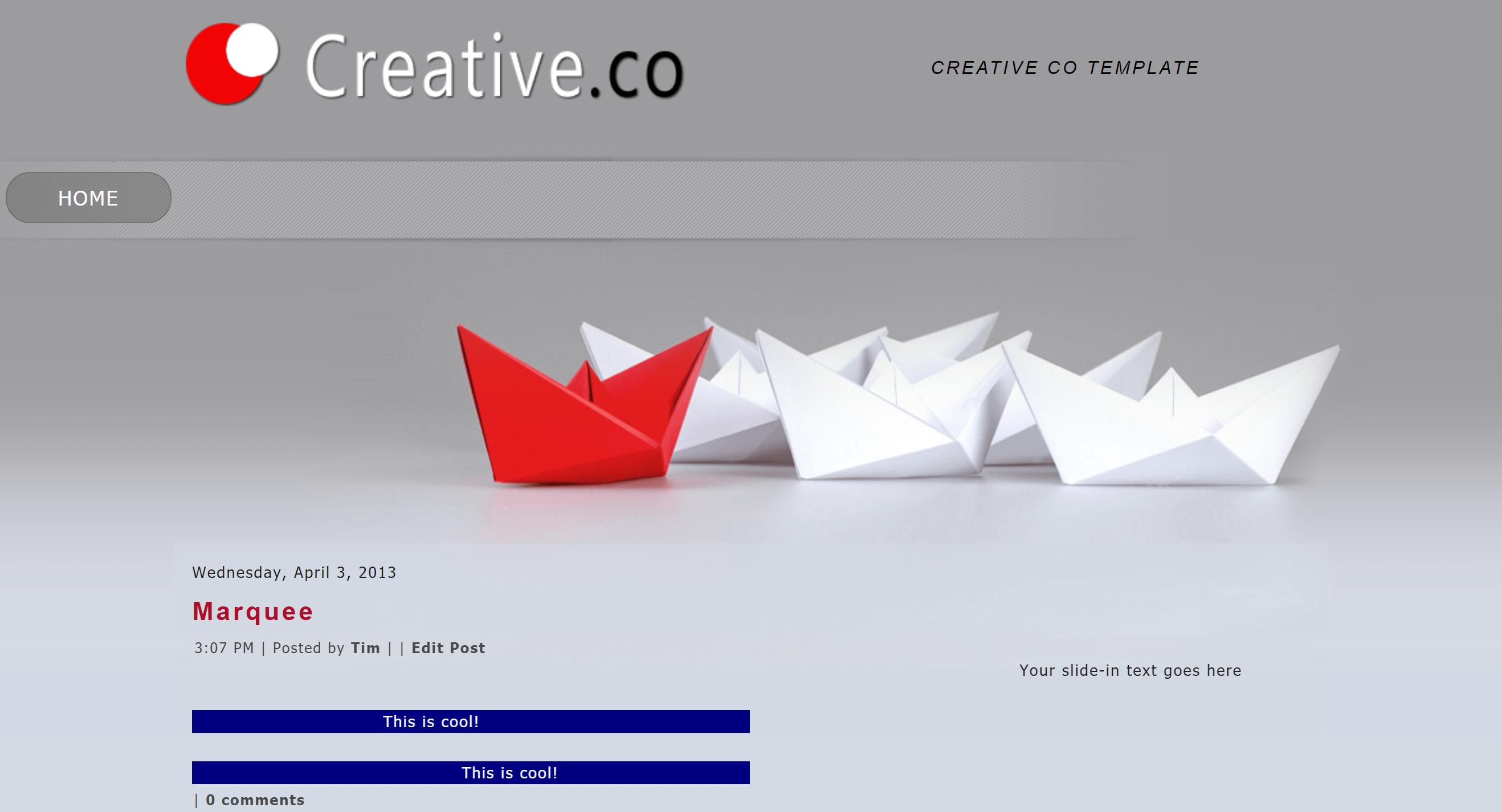 Creative Co Blogger Template