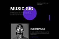 Music Gig Responsive HTML5 Template