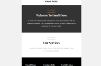 Email Dose simple HTML email template
