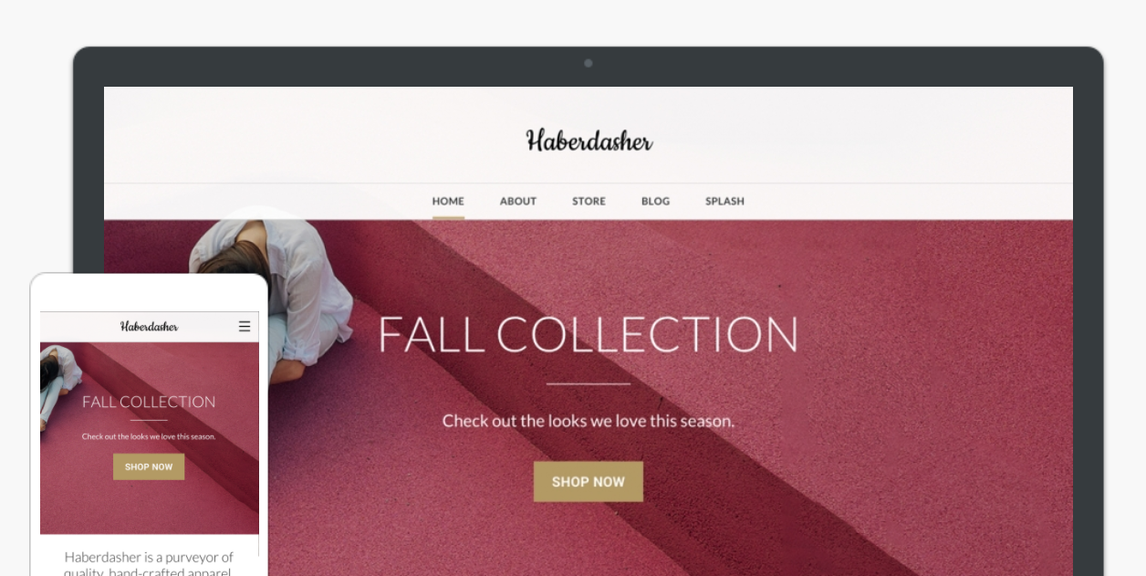 Haberdasher Weebly Theme