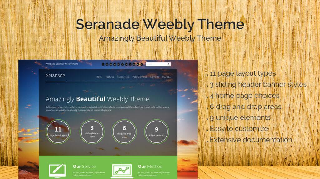 Seranade Beautiful Weebly Theme