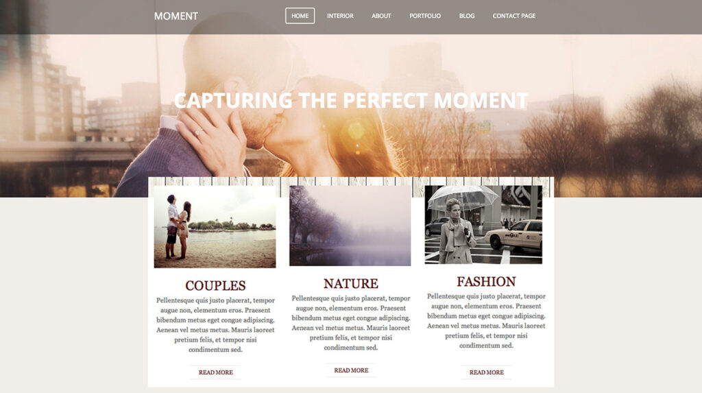 Moment Theme for Weebly