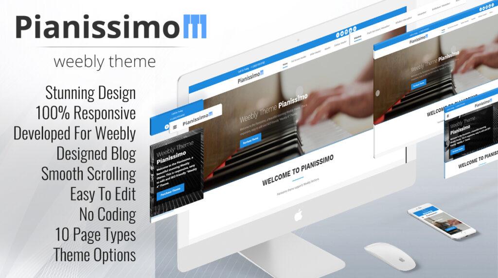 Pianissimo Premium Weebly Theme