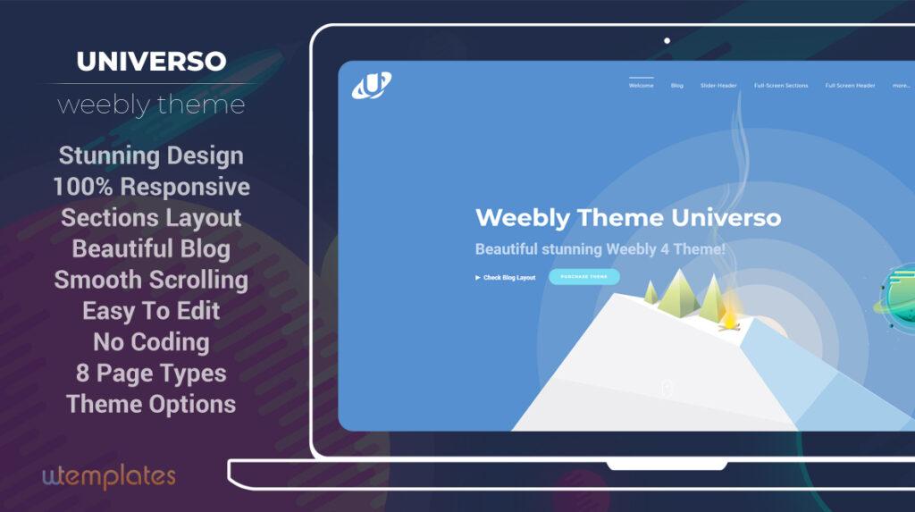 Universo Premium Weebly Theme