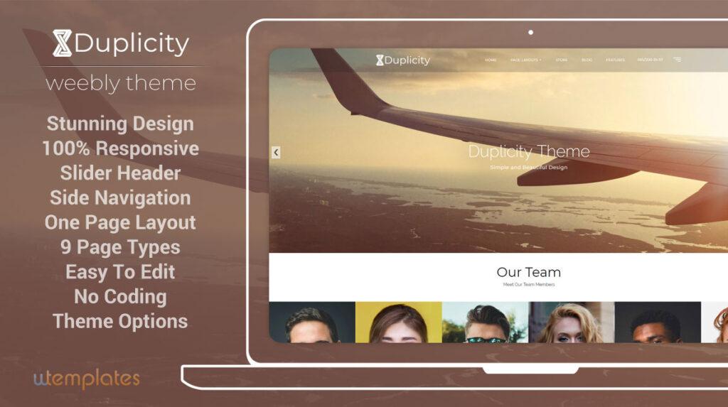 Duplicity Premium Weebly Theme
