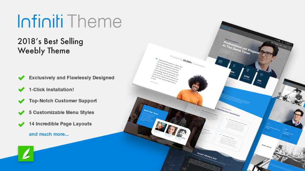 Infiniti 2018's Best Selling Weebly Theme